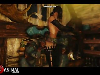 Skyrim Dragon Mega-slut Like Monster 3 Crazy Machinima 1