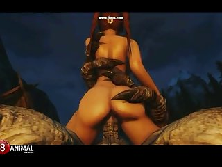 Skyrim Dragon Tart Like Troll 2 (rus) Mischievous Machinima 1