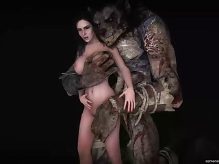 3 dimensional Animated Source Filmmaker The Witcher The Witcher 3 Naughty Hunt Yennefer Comandorekinsfm