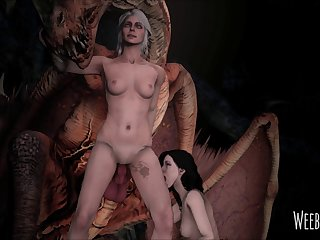 Ciri And Yennefer Had To Squad Up In Order To Take Down The Royal Wyvern. (witcher 3) [weebstank] (gfycat.com)