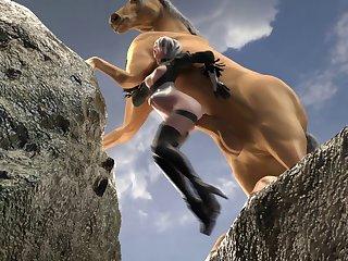 2b Railing A Pony (likkez)[horse] (gfycat.com)