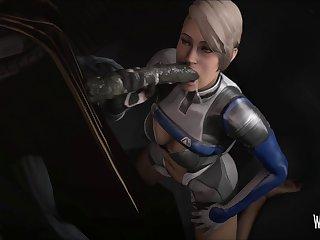 Cora Inhaling An Alien (mass Effect) [weebstank][monster] (gfycat.com)