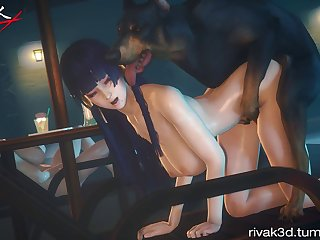 Nyotengu Mounted (rivak)[dog Wolf] (gfycat.com)
