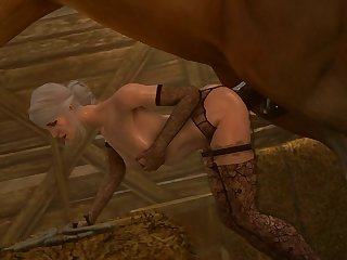 Ciri Getting Rode (darktronicksfm)[horse] (gfycat.com)