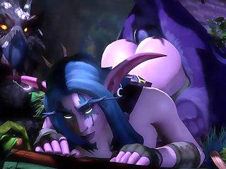 Elyrasia X Owlcat (ambrosine) [world Of Warcraft][monster] (gfycat.com)