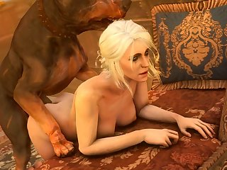 Ciri Getting Plowed From Behind (darktronicksfm)[dog Wolf] (gfycat.com)