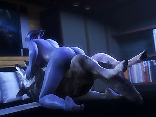 Liara Gets Knotted (noname55)[dog Wolf] (gfycat.com)