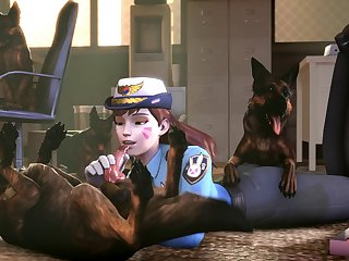 Officer D.va K9 Training[dog Wolf] (gfycat.com)