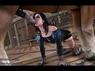 Yennefer Fellating Some Pony Wood (callmehaymaker)[horse] (gfycat.com)