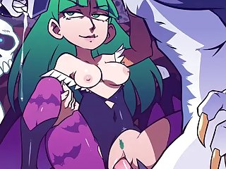 Morrigan Getting Poked By A Werewolf (speedosausage)[dog Wolf] (i.imgur.com)